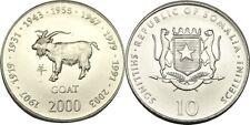 elf Somalia Republic 10 Shilling 2000 Zodiac Goat