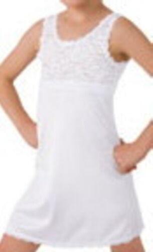 Kids Lace Top Under Slip Size 8 White Girls