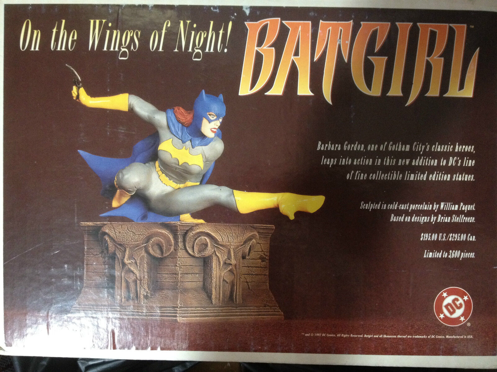 - direkte batgirl auf den flgeln night full - Größe - statue authentisch