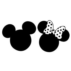 5 MICKEY Amp MINNIE SILHOUETTE Vinyl Decal Sticker Car