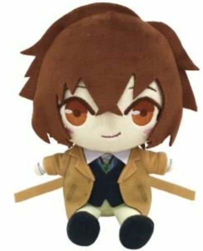 Bungo Stray Dogs Chibi Plush Stuffed Animal Doll Osamu Dazai F//S w//Tracking# NEW