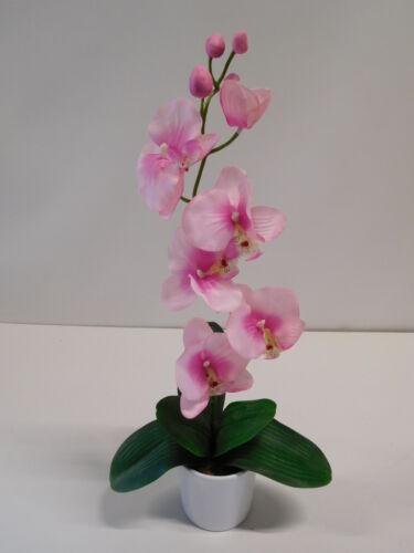 Orchidee Phalaenopsis Kunstpflanze Dekopflanze 50 cm rose 60301-03 getopft F73