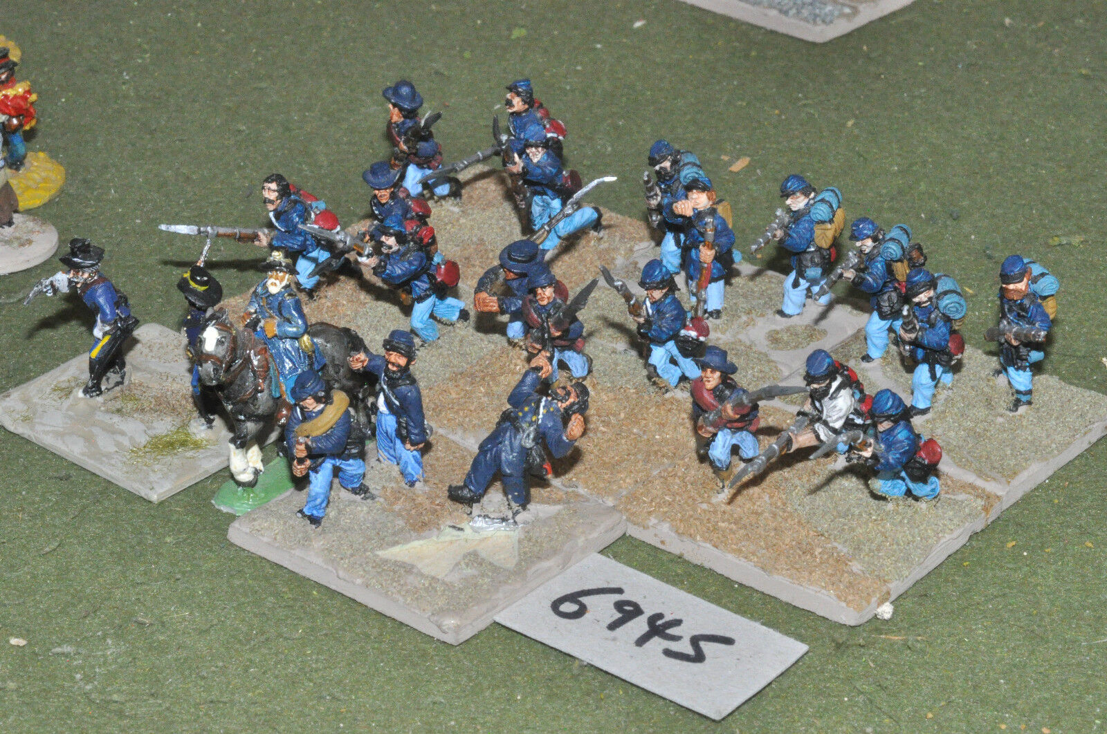 25mm ACW   union - american civil war infantry 24 figs metal - inf (6945)