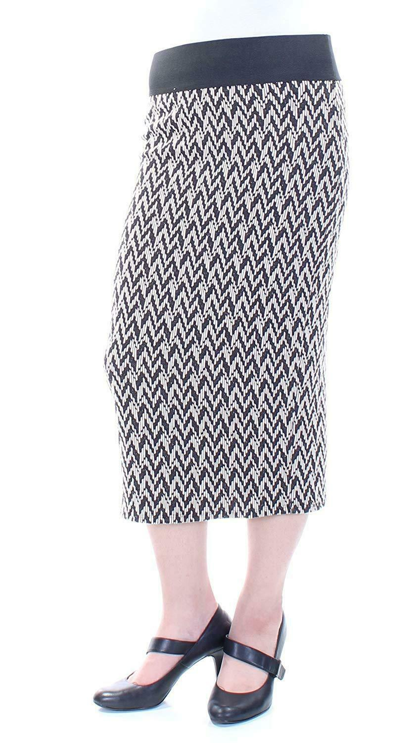 Chelsea Sky Womens Elastic Pattern Pencil Skirt