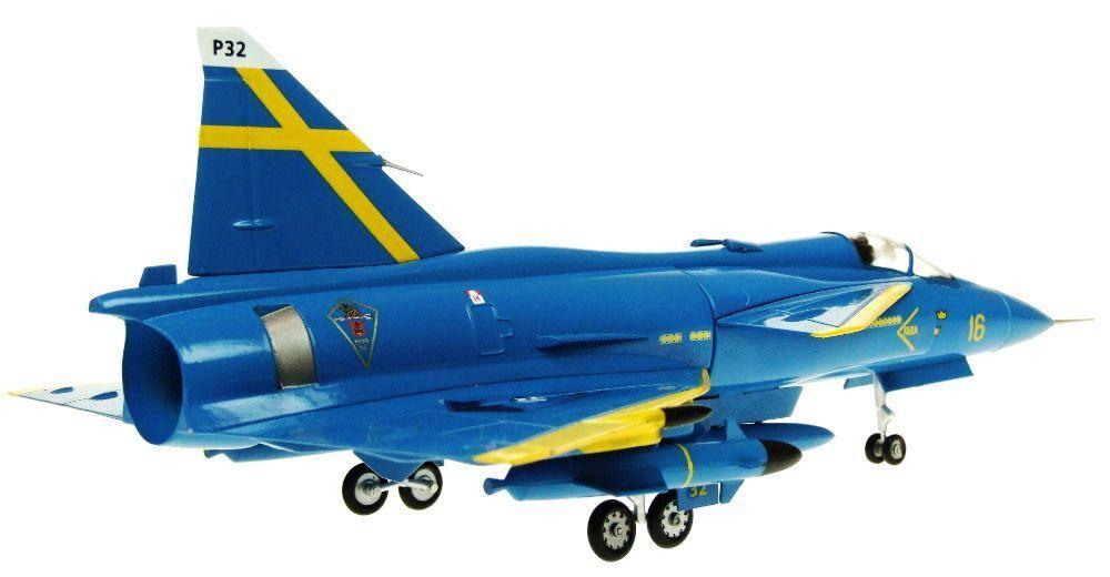Aviation72 Av7242003 1 72 72 72 Saab Viggen F16-32 Ja37d blue Peter 5e14a7