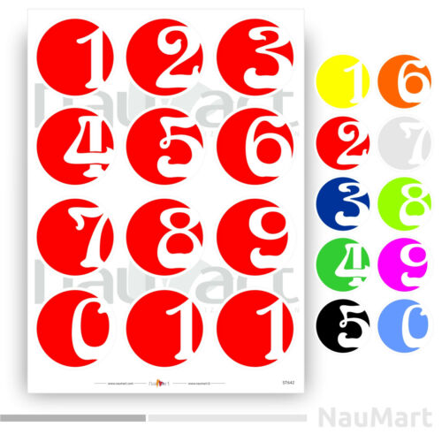 NUMBER SET stickers ST642