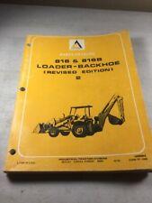 Allis Chalmers 816 816b Backhoe Loader Parts Catalog Manual