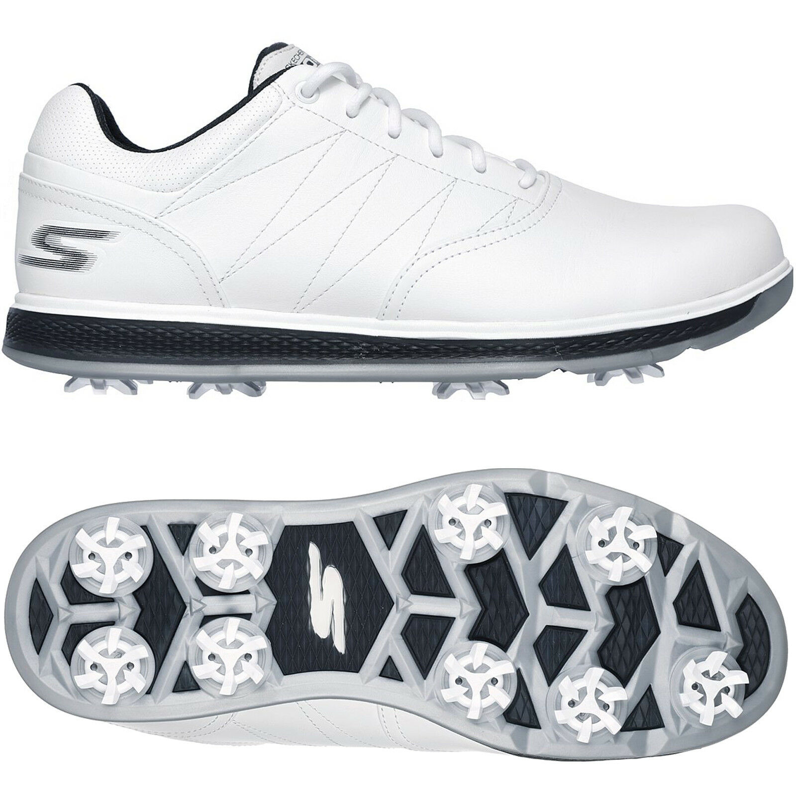 SKECHERS 2018 GO GOLF PRO V.3 WATERPROOF LEATHER MENS SPIKED GOLF SHOES