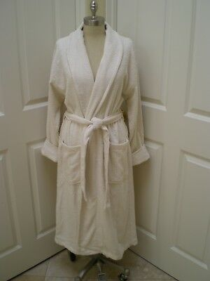 Womens Shawl collar Turkish toweling loop terry Luxurious robes
