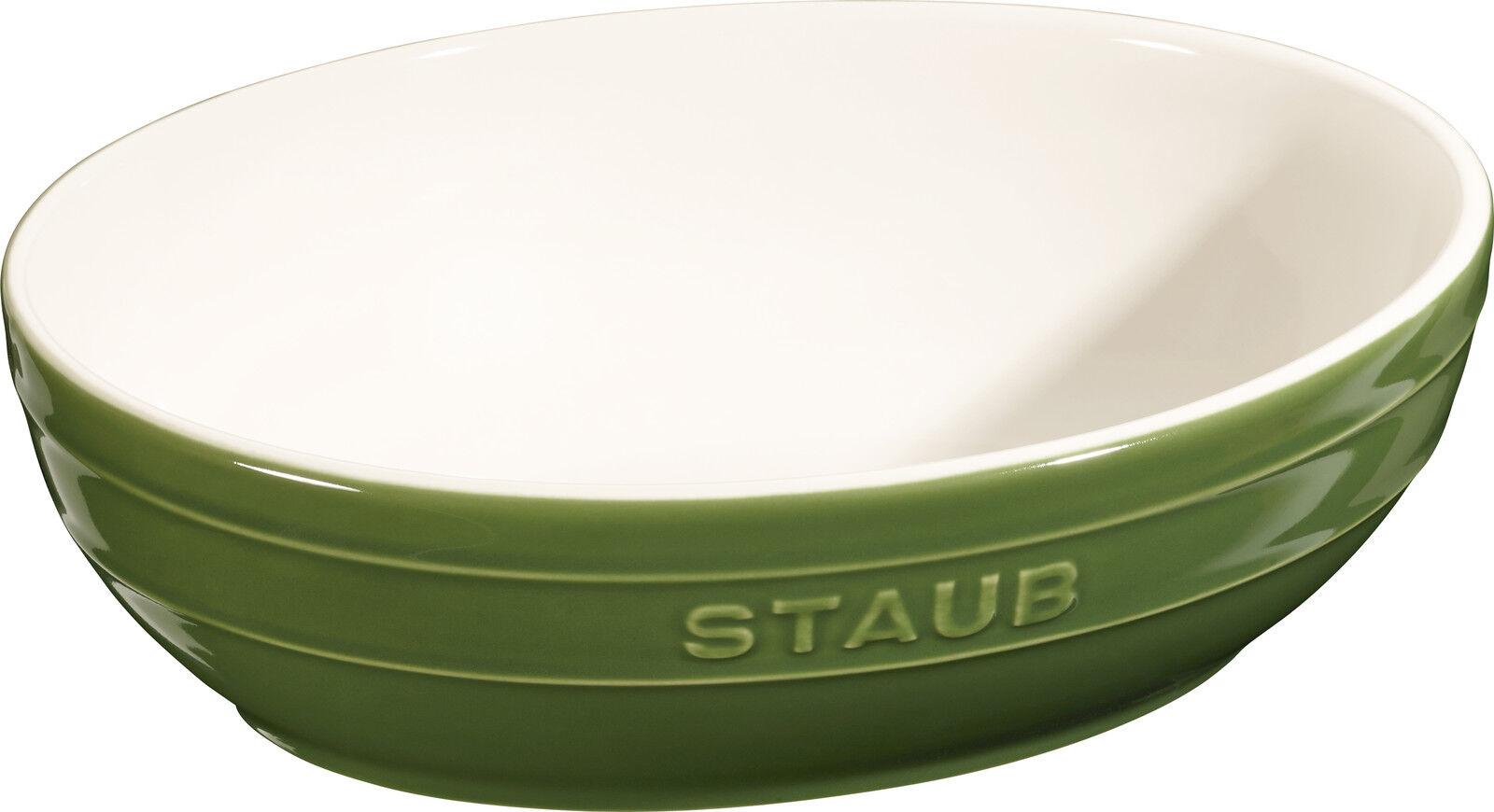 2's Set Staub Céramique Bol à salade 2 PCs. Coupe de fruits Basilikumgrue