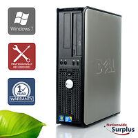 Dell Optiplex 780 DT Core 2 Duo E8400 3.0GHz 4GB 160GB Win 7 Pro 1 Yr Wty