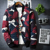 Mens Boys Quilted Casual Padded Bomber Winter Varsity Baseball Jacket College