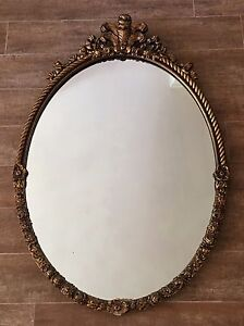 Image Is Loading Vintage Mirror 28 X 42 034 Gold Hollywood