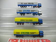 AI785-0,5# 4x Kibri (?) H0 Autoarticolato/LKW/Camion DAF: Wirth etc