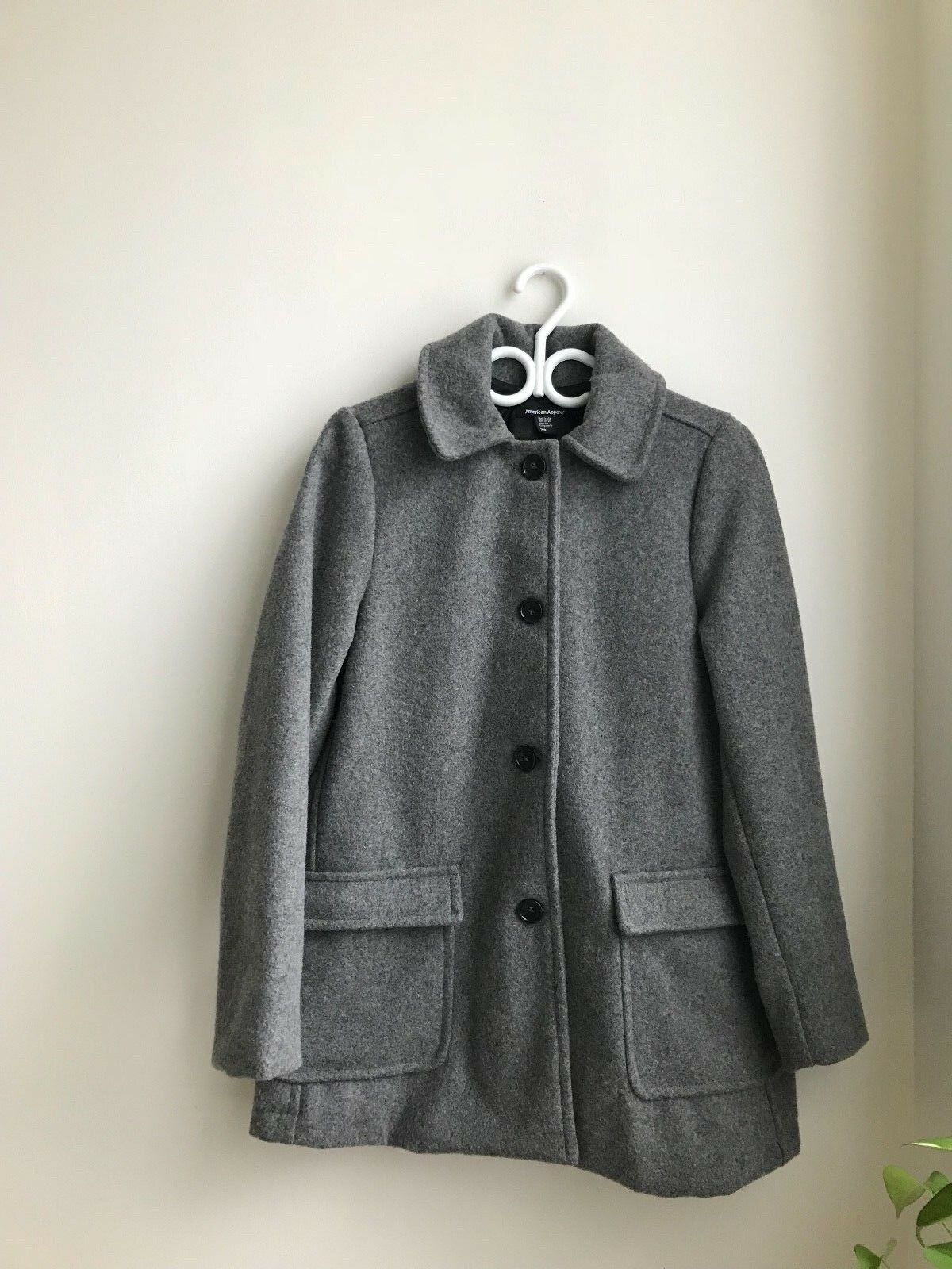 NWOT American Apparel Grey Wool Coat XS (Oversized fit fits larger)