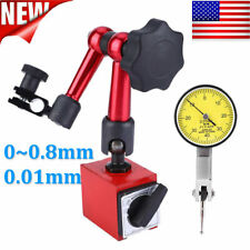 Test Measuring Dial Indicator Gauge Magnetic Base Set 001mm Usa