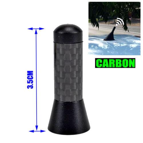 3.5cm Car Carbon Short AM//FM Radio Aerial Antenna Mast Bee Sting Mini Roof Top