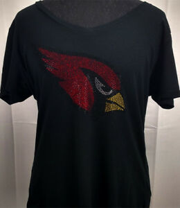 Image is loading Women-039-s-Arizona-Cardinals-Rhinestone-Football-V- 197797e7e1