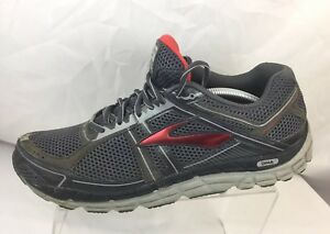 08a08b91570 Brooks Addiction A12 DNA Charcoal Grey Red Men s Running Shoes Sz ...