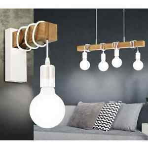 EGLO-Pendant-Light-Townshend-4-Lamps-Wood-White-Hanging-Ceiling-Lamp-Fitting
