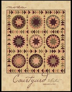 Courtyard Quilt Pattern By 3 Sisters For Moda Fabrics Ebay