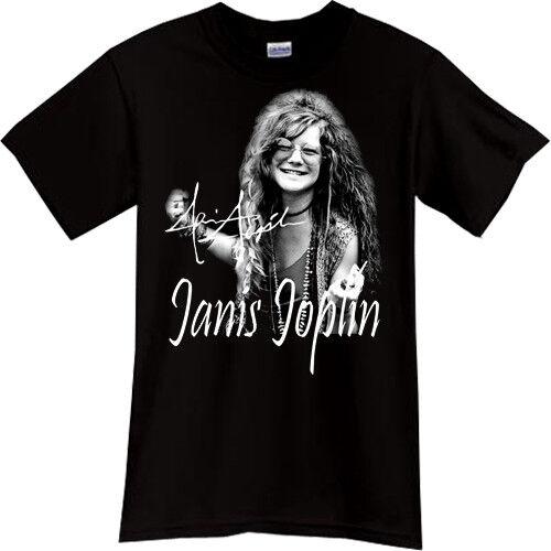 Janis Joplin Rock Band Tribute T-shirt Noir T-shirt Tee Taille S M L XL 2XL 3XL