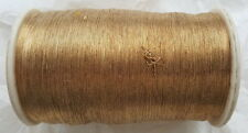Antik: 1 x org. Rolle Effekt Brokat GARN Goldstickerei Gold 325g  um 1940/50
