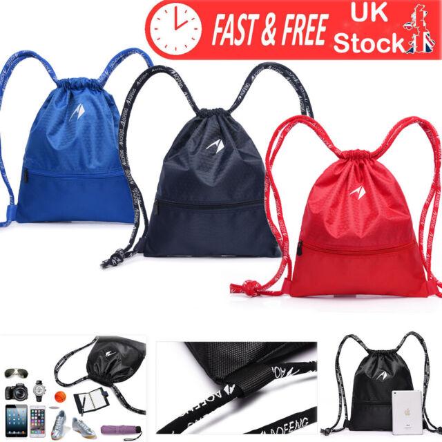 Ea Drawstring Backpack Rucksack Shoulder Bags Training Gym Sack For Man And Women