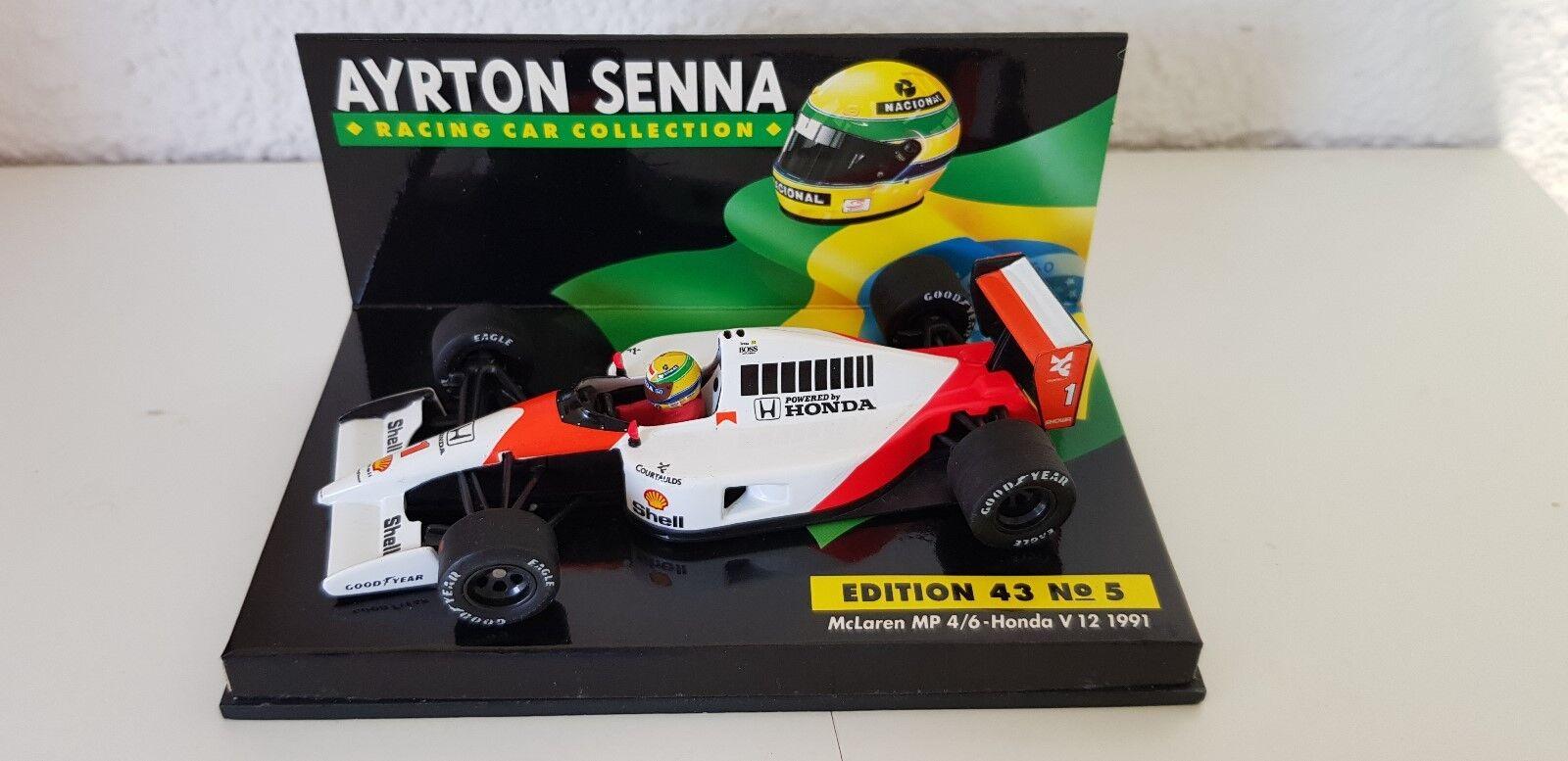 Minichamps 1:43 A. Senna COLLECTION nr 05 McLaren MP 4/6 World Champion 1991