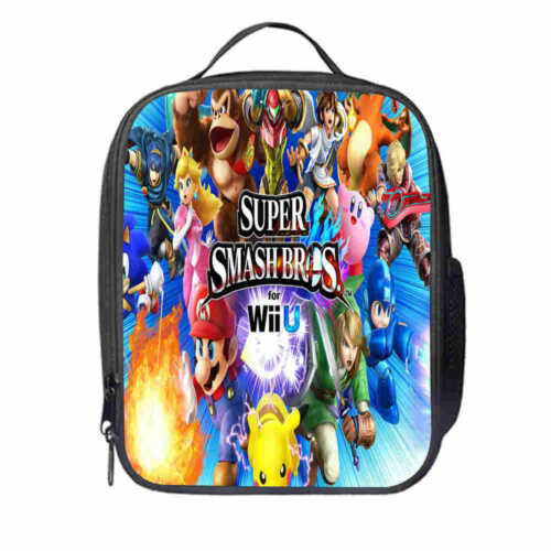 Super Mario 3D World Sonic the Hedgehog Backpack School Bag Insulated Lunch Box