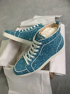 f7608a5d623 Details about Christian Louboutin Rantus Glitter Trainers Sneakers **RARE**  100% Authentic