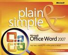 Plain and Simple: Microsoft® Office Word 2007 by Jerry Joyce and Marianne Moon (2007, Paperback, Revised, New Edition)