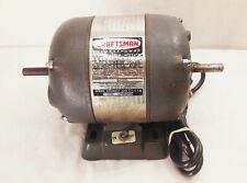 Vtg Craftsman 12 Hp 115v 3450 Rpm 12 Dual Double Shaft Electric Motor 1157556