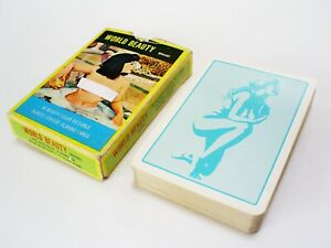 Playing cards deck Pin-up nude Girl Asia not opened Plastic coated 54 models Adult female erotic mature