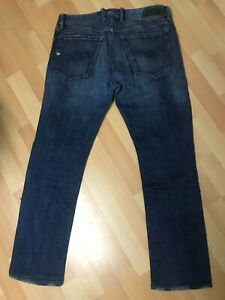 WORN-look-da-Uomo-DIESEL-Waykee-Stretch-Denim-Blu-0858K-regolare-W32-L28-H7-5
