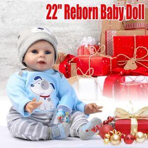 22-039-039-Bambole-Reborn-Baby-Dolls-Realistico-Silicone-Vinile-Bambino-natale-Regalo