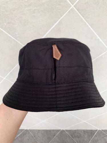 Authentic Hermes hat Cap bucket Signature Leather