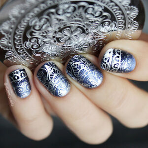 Image Is Loading Born Pretty Nail Art Stamping Plate Stencil