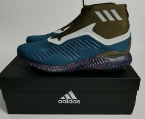 outlet store 01e90 6c6d7 Image is loading ADIDAS-ALPHABOUNCE-5-8-ZIP-HIKING-RUNNING-TRAIL-