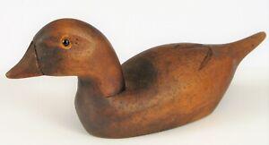Antiguedad-Popular-Art-Tallada-a-Mano-Madera-Pato-Senuelo-Miniature-6-034-Largo