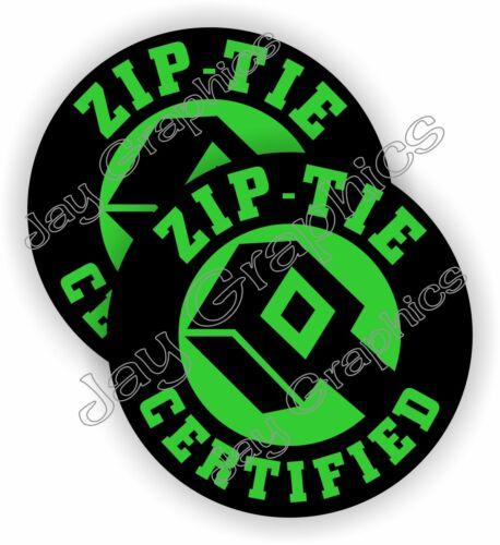 Funny ZIP TIE Certified Hard Hat Stickers Welding Helmet Decals Zip Ties 2