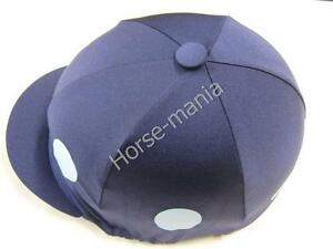 Bleu Marine Soie-Bleu Clair Rond Équitation Chapeau soie Housse Jockey caps taille unique-afficher le titre d`origine pzJEgvNX-07162354-930030362