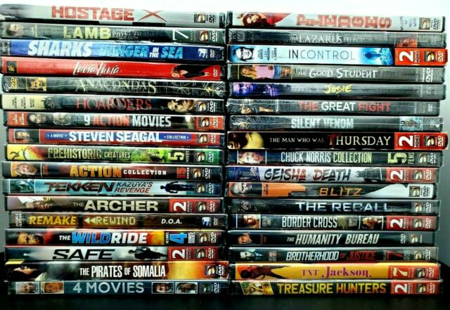 34 LOT DVD BRAND NEW & SEALED Variety of Action Adventure Horror Scary Movies