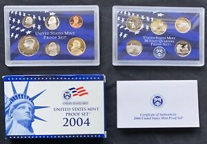 USA-2004-Proof-Set-San-Francisco-PP-polierte-Platte-mit-State-Quarter-1c-1