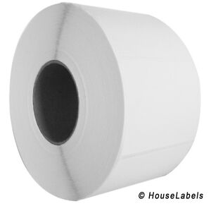 "2 Rolls 4"" x 3"" Direct Thermal Zebra FASSON Labels 3"" inch Core 1950 Labels 4x3"