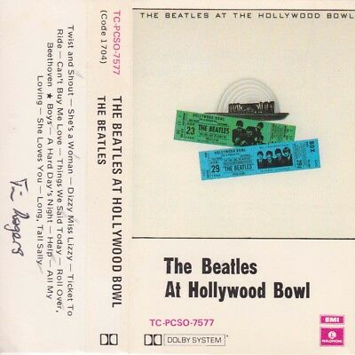 The Beatles At Hollywood Bowl Cassette Paper Labels Tape Sirh70 Ebay