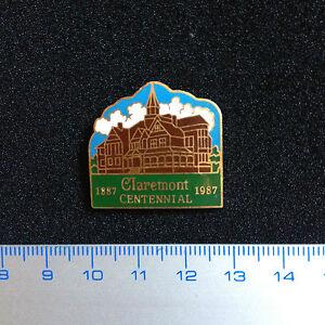 Very-Rare-Pin-1987-Claremont-Centennial-California-Badge-Metal-Original