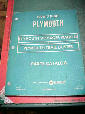2019 Mode 1978 1979 1980 Plymouth Trail Duster Suv Voyager Wagon Illustrated Parts Catalog En Digestion Helping