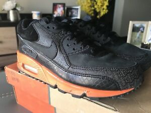 huge selection of e8931 ee7be Image is loading Nike-Air-Max-90-Powerwall-Orange-Blaze-Size-