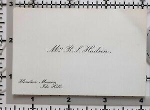 Antique-Calling-Card-Mme-R-Husdon-Henden-Manoir-Ide-Hill